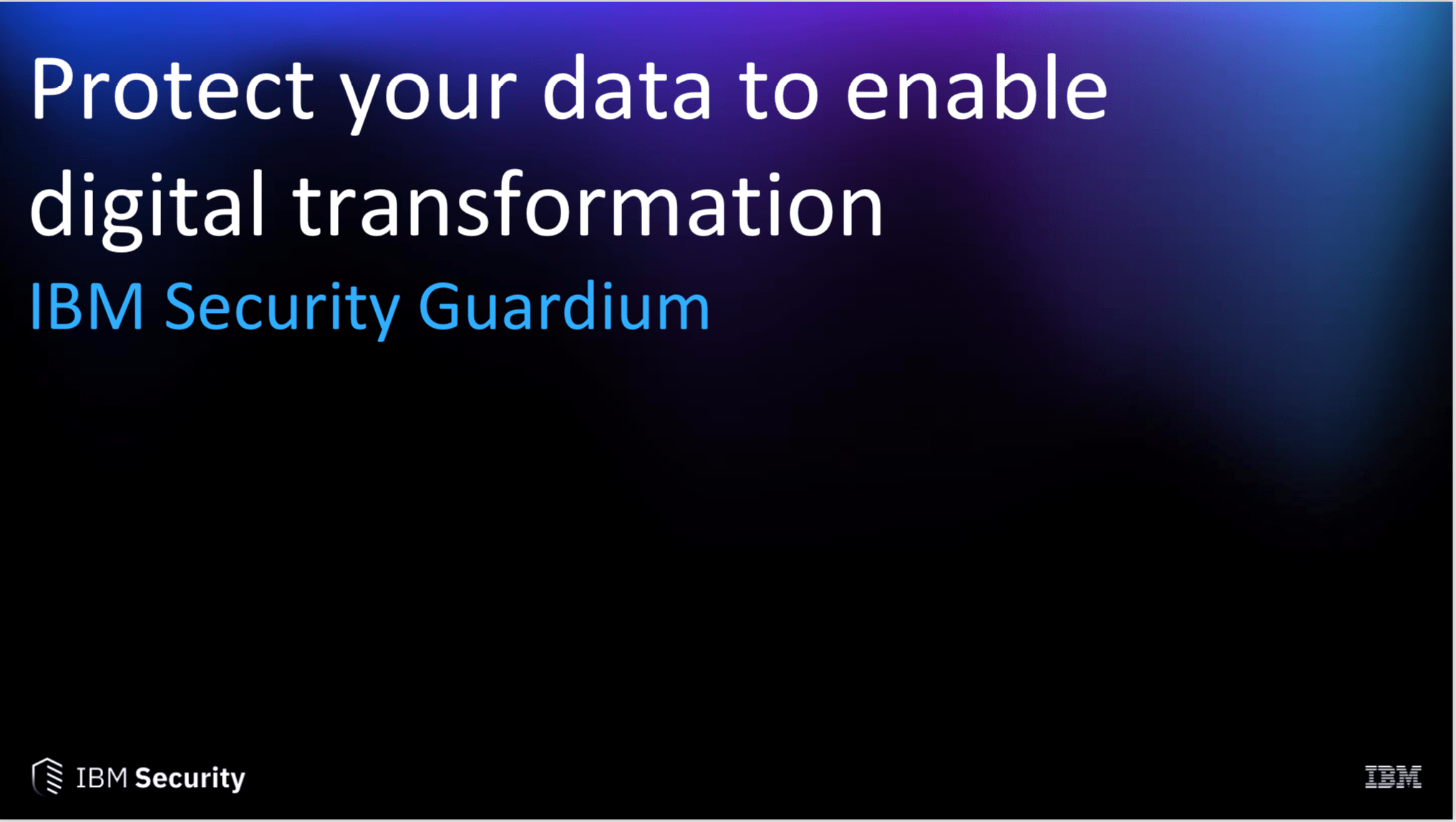 Protect your data to enable digital transformation