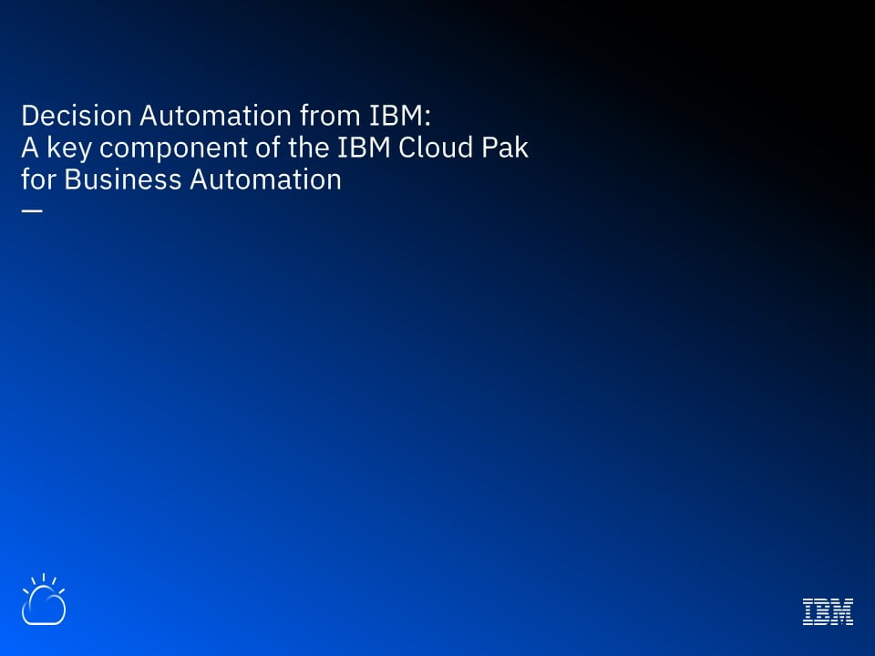Decision Automation from IBM